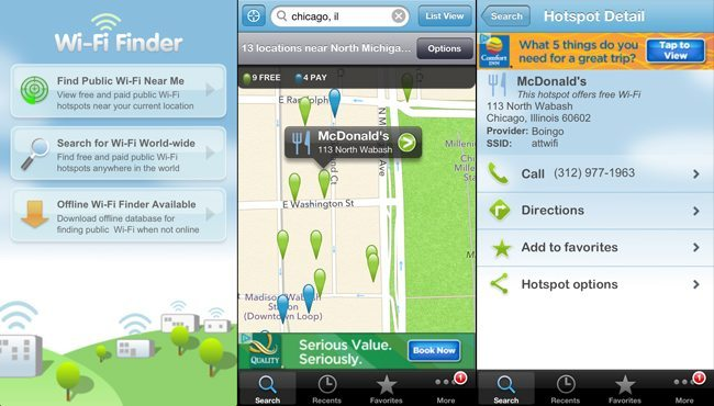 Best Free Travel Apps: Wi-fi Finder