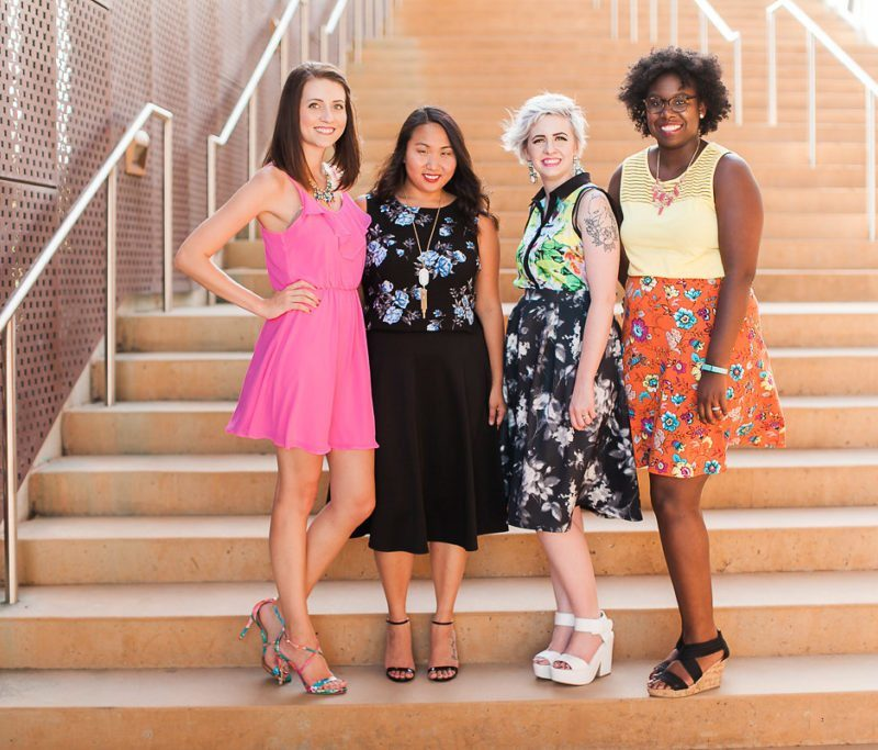 Diversity Chic: Floral Print With Sandals