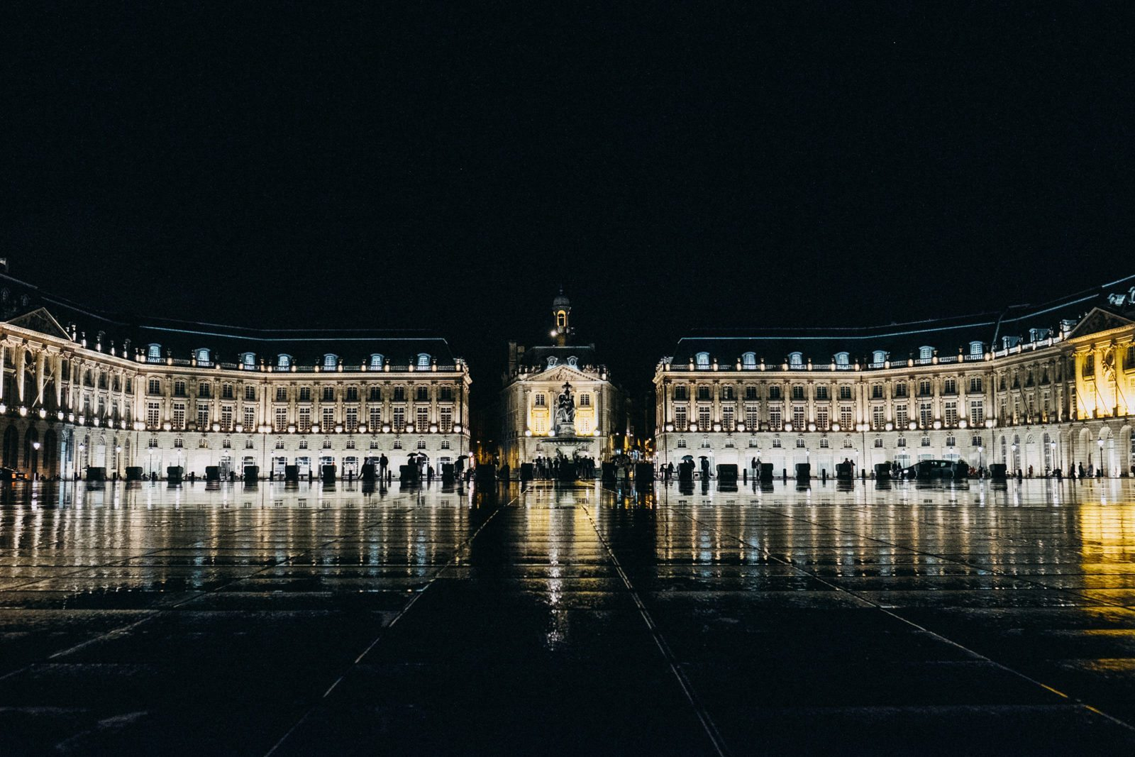 Bordeaux France Night Photography