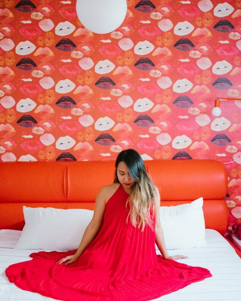 Austin Motel - Red Lips Wallpaper
