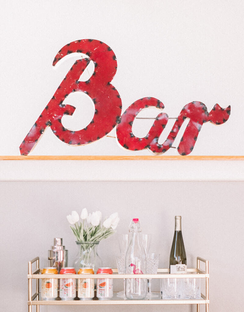 How to Style a Bar Cart for Summer