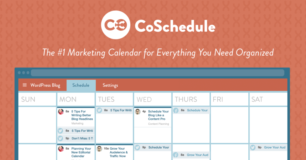 CoSchedule Editorial Calendar: Best WordPress Scheduling and Social Sharing Tool