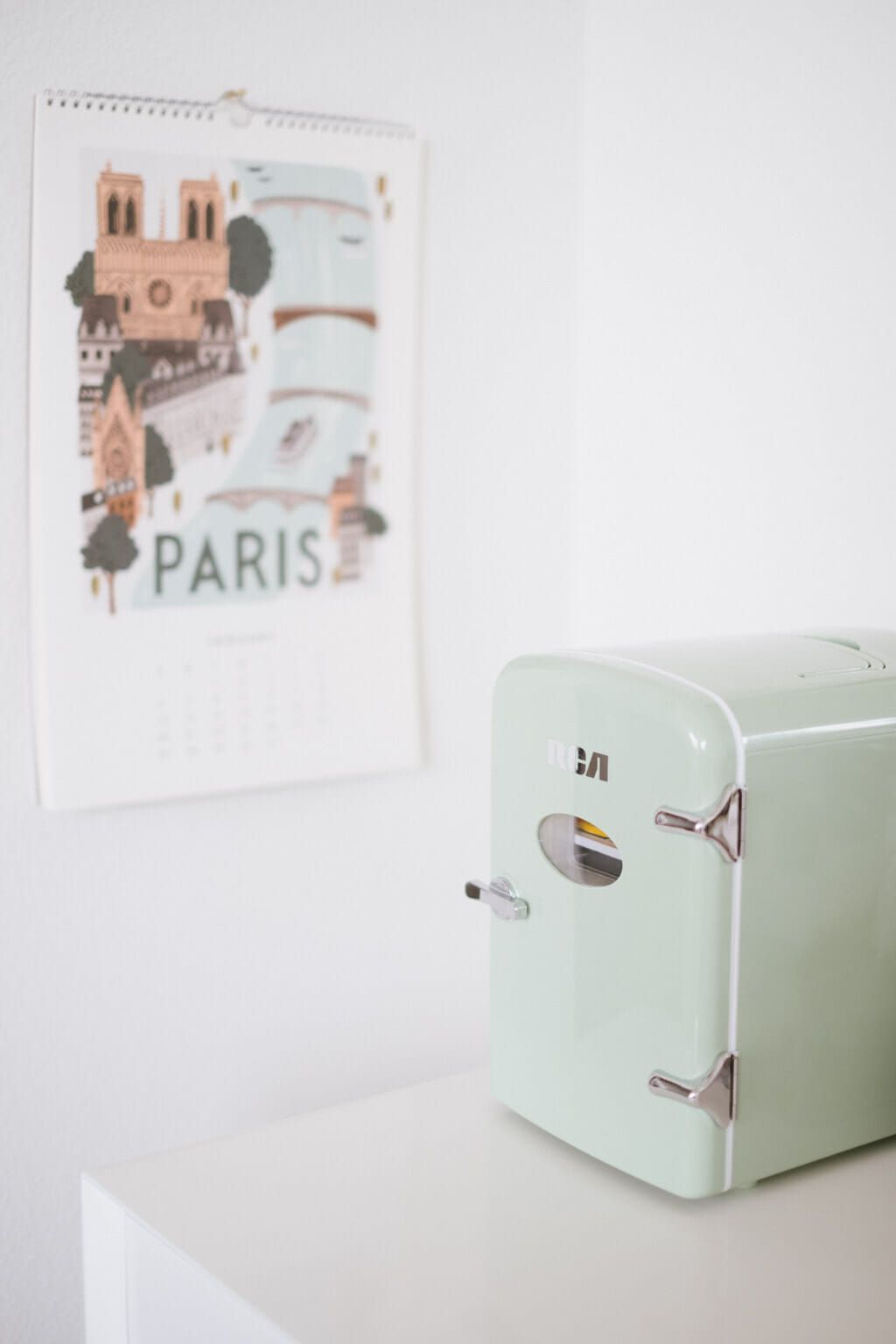 Retro Beauty Fridge - Mint Green Mini Refrigerator